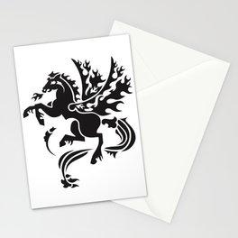 Fiery Pegasus - black Stationery Cards