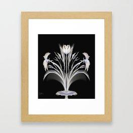 Corn Flower Abstract Framed Art Print