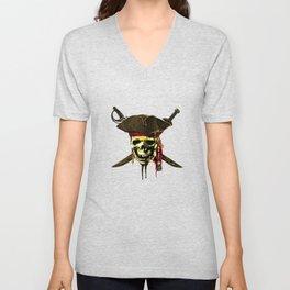The Dark Eyes Of Pirates Unisex V-Neck