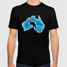 Australia Mens Fitted Tee SMALL Black