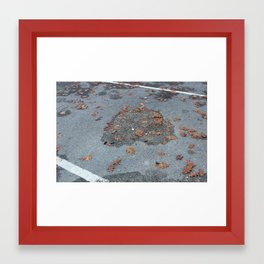 diagonal lines Framed Art Print