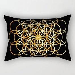 Flower or circle of life Rectangular Pillow