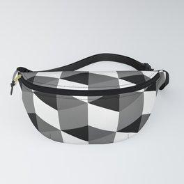 Geometric Optical Illusion Cube Art Fanny Pack
