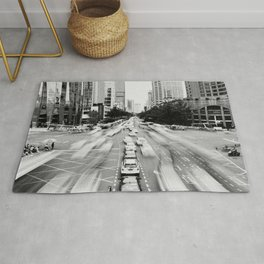 Cityscape (Black and White) Rug