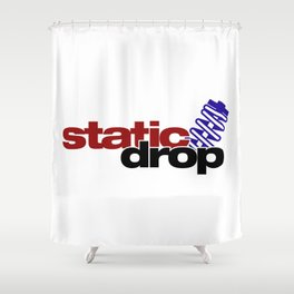 Static drop v4 HQvector Shower Curtain