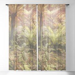 Golden Forest Sheer Curtain