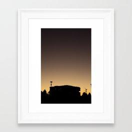 Sunset silhouette (Yarra's Edge, 2012) Framed Art Print