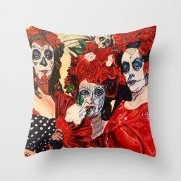 Tres Hermanas ( Three Sisters) Throw Pillow