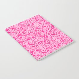 Pink Swirls Notebook