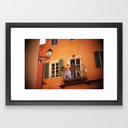 French Riviera Landscape Framed Art Print