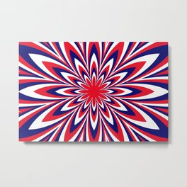 Fourth of July Flower Metal Print
