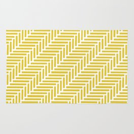 Herringbone 45 Yellow Rug