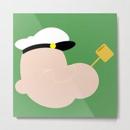 4menSmoking - Popeye Metal Print
