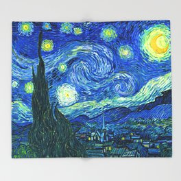 Starry Night at St. Remy Throw Blanket