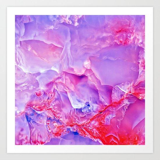 Onyx - blue and pink Art Print