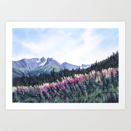 Alyeska in Bloom Art Print