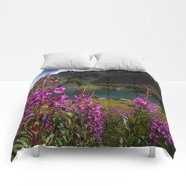 Fireweed - Hatcher Pass Alaska Comforters