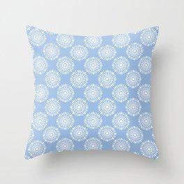 Kitchen cutlery blue Throw Pillow