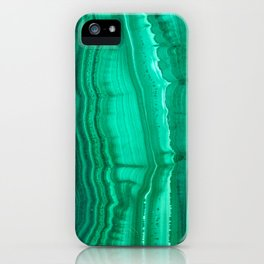 Malachite Stone iPhone Case