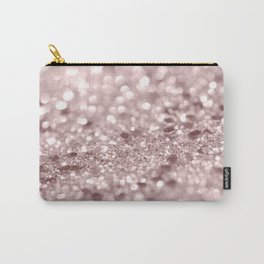 Sparkling Rose Gold Blush Glitter #1 #shiny #decor #art #society6 Carry-All Pouch