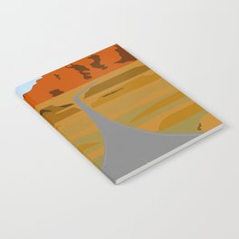 Route 66 Highway Illustration Notebook