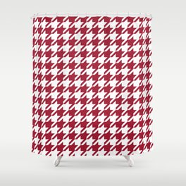 Bama crimson tide college state pattern print university of alabama varsity alumni gifts houndstooth Shower Curtain