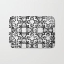 Azulejo in Black and White Bath Mat