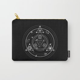Dark and mysterious wicca style sacred geometry Carry-All Pouch