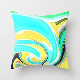Re-Created  Sour Candy 6 by Robert S. Lee Throw Pillow