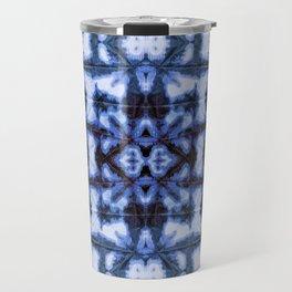 Blue Oxford Shibori Travel Mug