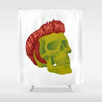 elvis Shower Curtains featuring Elvis by David Maclennan