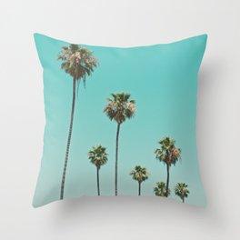 palm trees. las palmeras Throw Pillow