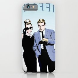 Tiffany with Audrey Hepburn and George Peppard iPhone Case