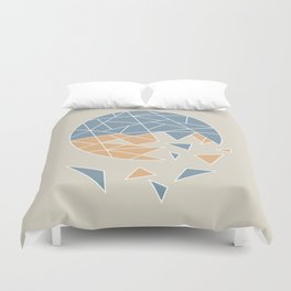 DISASTER (abstract geometric) Duvet Cover