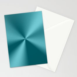 Teal-green metallic stainless steel print Stationery Cards