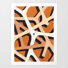 Mono Pattern | The Branches Art Print