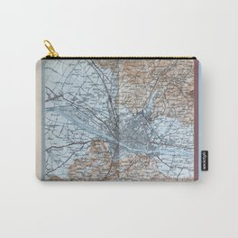 Firenze, Italia = Florence, Italy antique map 1800s Carry-All Pouch