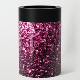 Beautiful Dark Pink glitter sparkles Can Cooler