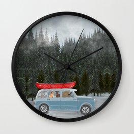 winter holiday Wall Clock