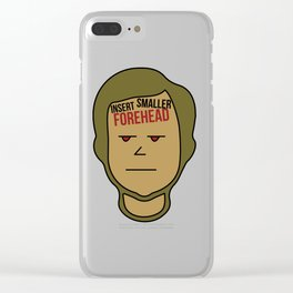 Biggest and Shiniest Forehead Tshirt design Insert smaller forehead Clear iPhone Case