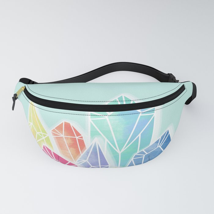 Crystals Green Fanny Pack