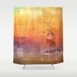 Moon Over Inchkeith v2 Shower Curtain