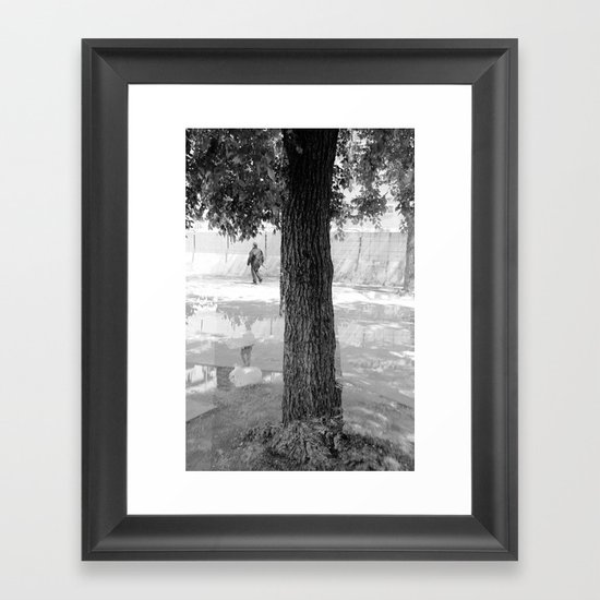 to stoop back down to the base, then climb Framed Art Print