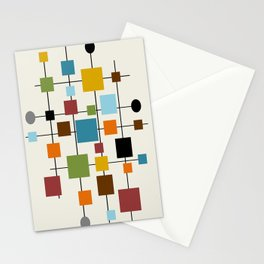 Mid-Century Modern Art 1.3 Stationery Cards