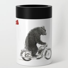 Motorcycle Bear Can Cooler
