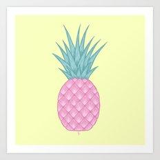 Pink pastel pineapple Art Print
