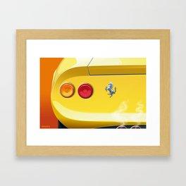 Ferrari Dino 246GT from 1970 Framed Art Print