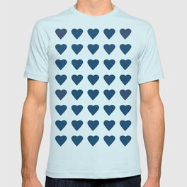 64 Hearts Navy T-shirt