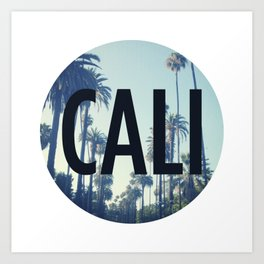 Cali Palm Tree Art Print