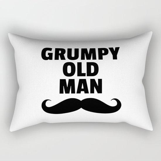 Grumpy Old Man Funny Quote Rectangular Pillow